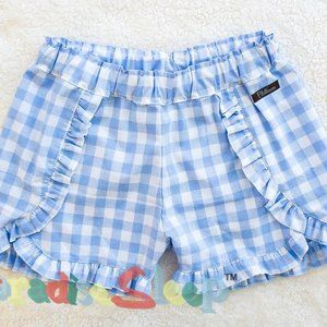 PLATINUM:  Little Blue Woven Shorties. Size 10, #1
